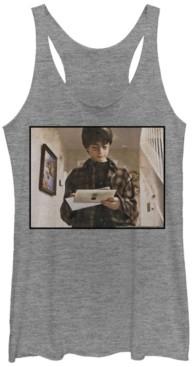 Fifth Sun Harry Potter Hogwarts Letter Portrait Tri-Blend Women's Racerback Tank