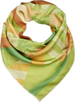 Anna Lou of London Grassland Silk Scarf