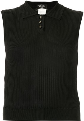 Chanel Pre Owned 1997 CC button polo shirt