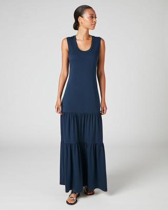 Jigsaw Pima Cotton Tiered Maxi Dress