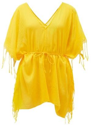 SU PARIS Kya Ribbed Cotton Tunic - Yellow