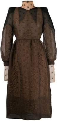 Fendi double-layered cloqué dress