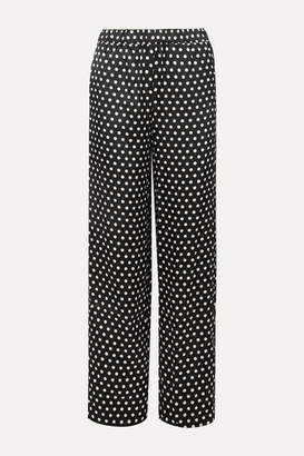 MICHAEL Michael Kors Polka-dot Hammered-satin Pants - Black