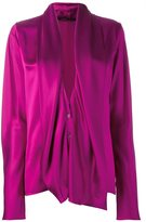 Haider Ackermann draped longsleeved blouse