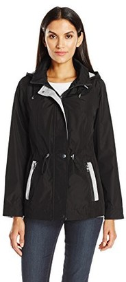 Details Women's Mixed Media Anorak with Sweatshirt Fleece Trim