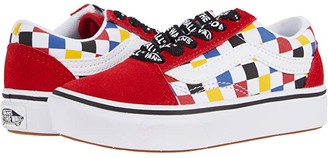 Vans Kids ComfyCush Old Skool (Little Kid) ((Checkerboard) Multi/Black) Boys Shoes