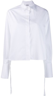 Each X Other Knotted Tassels Poplin Shirt