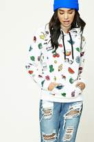 Forever 21 Pizza Print French Terry Hoodie