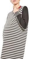 Topshop Women's Stripe Maternity Sweatshirt Dress