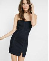 Express strapless denim dress