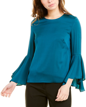Milly Holly Silk-Blend Top