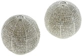 L'OBJET Sphere Salt & Pepper Shakers with White Swarovski - Platinum