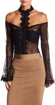Wow Couture Long Sleeve Lace Bodysuit