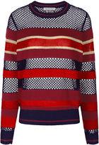 Etoile Isabel Marant Multi Stripe Knitted Deacon Sweater