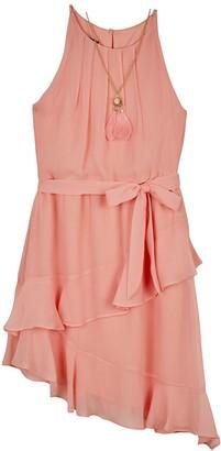 Amy Byer Girls 7-16 & Plus Size IZ Asymmetrical Halter Dress