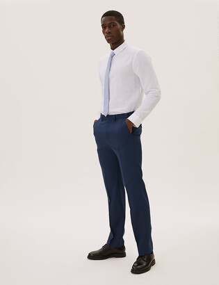 Marks and Spencer The Ultimate Blue Regular Fit Trousers
