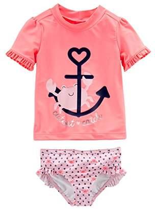 Carter's Simple Joys by Baby Girls' 2-Piece Rashguard Set