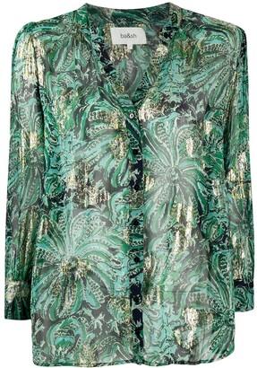 BA&SH Quincy floral-print metallic shirt