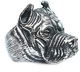 Epinki Stainless Steel Men Ring Shar Pei Dog Bulldog Punk Cool Style 2.19cm Size 10