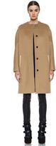Doubleface Wool Drop Shoulder Coat in Camel