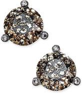 Kate Spade Black-Tone Crystal and Stone Stud Earrings