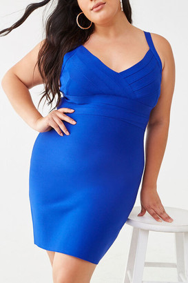 Forever 21 Plus Size Pleated Bodycon Dress