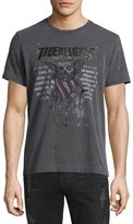 True Religion 4th Skull & Logo-Graphic Short-Sleeve Tee, Black