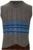 Raf Simons Geometric-jacquard Wool-blend Tank Top