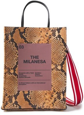 N°21 N21 The Milanesa Printed Snake-effect Leather Tote
