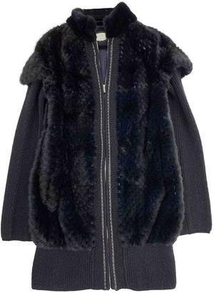 Fendi Blue Mink Coat for Women