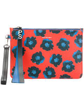 Paul Smith floral appliqué clutch