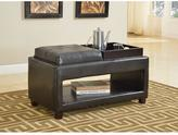 Acme Gosse PU Bench with 2-Tray in Dark Brown