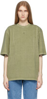 Thumbnail for your product : Ader Error Khaki Needle Logo T-Shirt