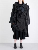 Yohji Yamamoto 3D-pleat asymmetric woven dress