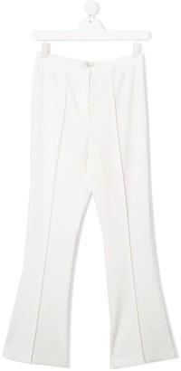 MonnaLisa TEEN plain flared trousers
