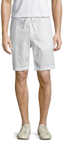 James Perse Men's Stretch Poplin Drawstring Shorts
