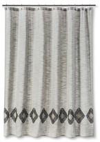 Threshold Solid Shower Curtain Sour Cream