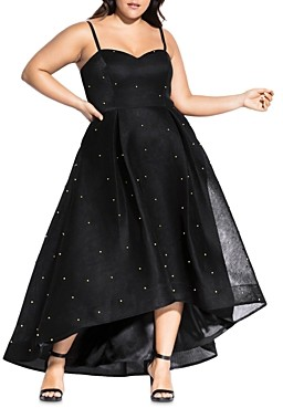 City Chic Plus Embellished High/Low Gown