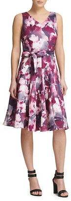 Donna Karan Tie-Dye Fit--Flare Dress