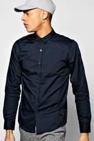 Boohoo Long Sleeve Poplin Shirt