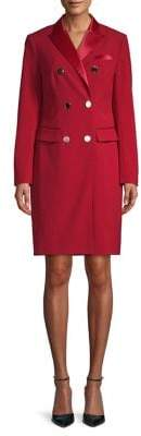 Anne Klein Double-Breasted Tuxedo Dress
