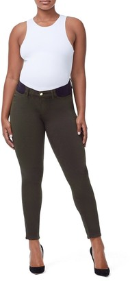 Ga Sale The Honeymoon Mid Rise Maternity Jeans - Olive005