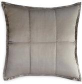 Donna Karan Home Reflection Silver Quilted European Sham