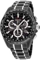 Seiko Astron SSE065 Limited Edition Black Coated Stainless Steel 45mm Mens Watch