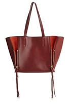 Chloé Medium Milo Calfskin Leather Tote - Red
