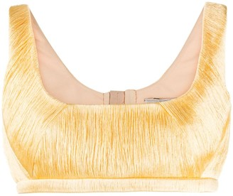 Marco De Vincenzo Sleeveless Crop Top