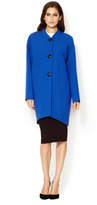Lafayette 148 New York Cocoon Button Front Coat
