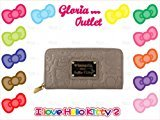 Hello Kitty Taupe Embossed Face Wallet Loungefly Sanrio