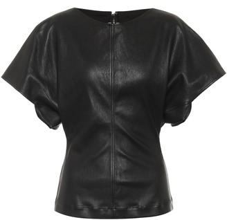 Rick Owens Naska leather-blend top