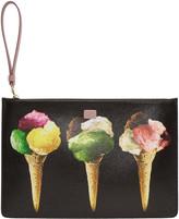 Dolce & Gabbana Black Gelato Print Zip Pouch